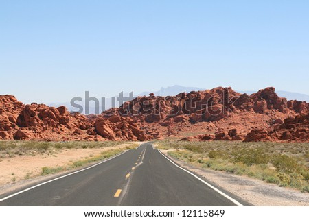 Road in Valley of Fire, Nevada