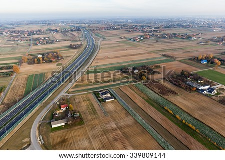 road junction  aerial view