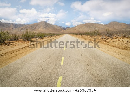 Road landscape long road with yellow line Road landscape long road with yellow line Road landscape long road with yellow line Road landscape long road with yellow line Road landscape long road - stock photo
