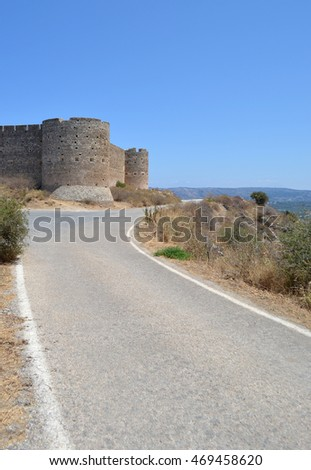 Road leading to Aptera Fortress