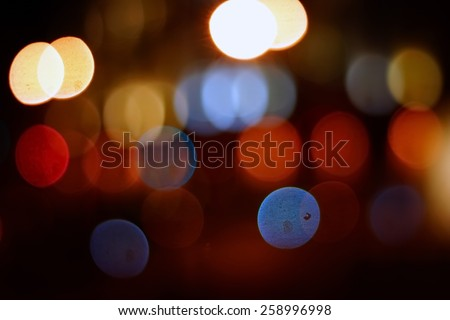 Road light blur background with bokeh - stock photo