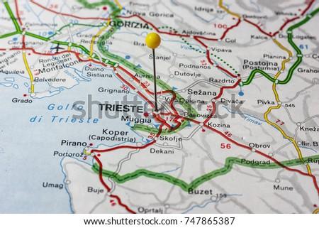 Map Of Trieste Stock Images RoyaltyFree Images Vectors - Trieste map