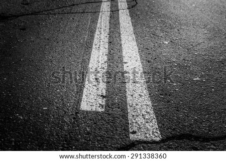 road marking - stock photo