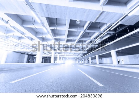 road of station and building celling