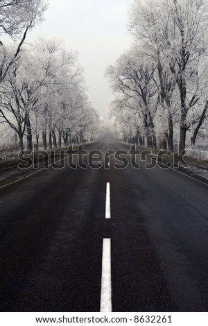 road on a background of road