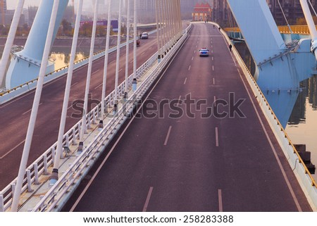 road on bridge