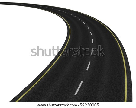 Road on white