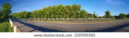road panorama - stock photo
