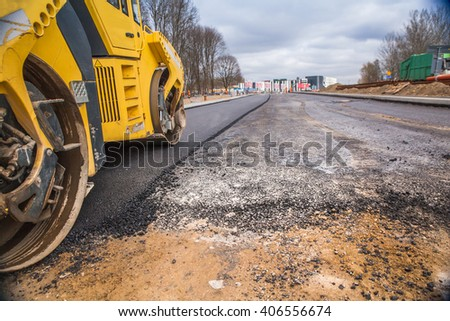 road paving - stock photo