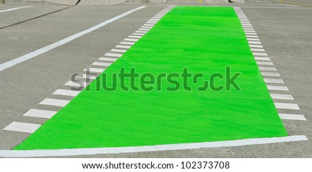 Road pedestrian crossing - stock photo