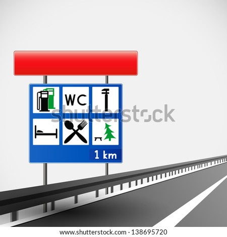 Road sign abstract background.