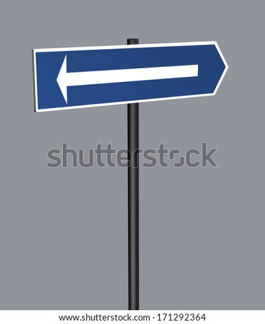 Road Sign Arrow made in 3d software
