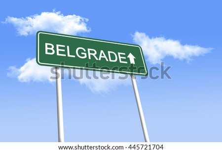 Road sign - Belgrade