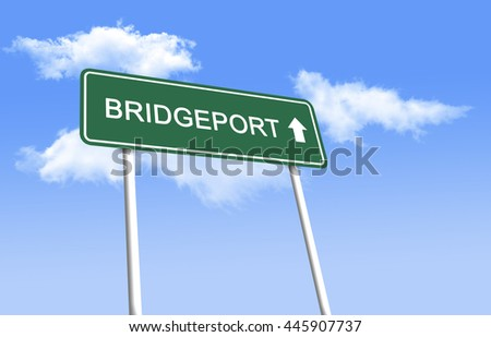 Road sign - Bridgeport