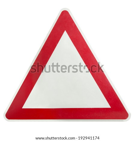 Road sign empty for your warning - stock photo