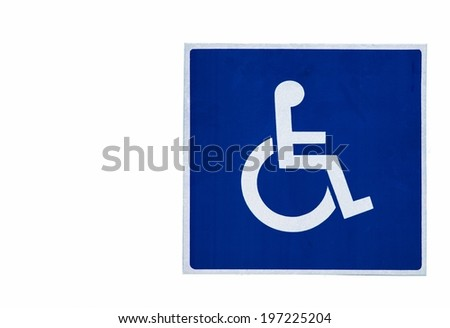 Road sign. Handicapped parking  - stock photo