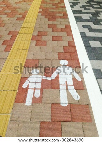 road sign isolated for pedestrians - stock photo