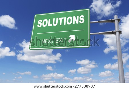 Road sign of solutions