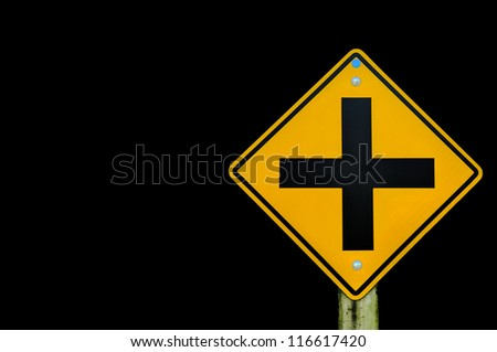 road sign on background,junction sign,intersection, crossroad. - stock photo