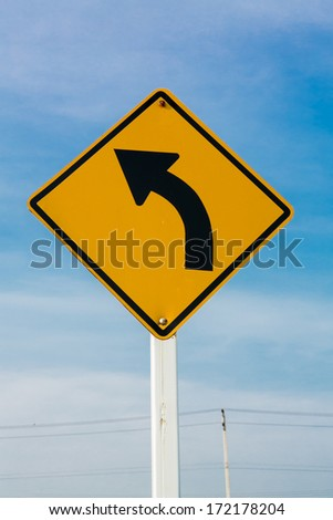 road sign on sky background,junction sign,intersection, crossroad. - stock photo