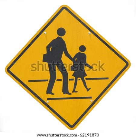 Cross Roads Sign Road Sign School Crossing