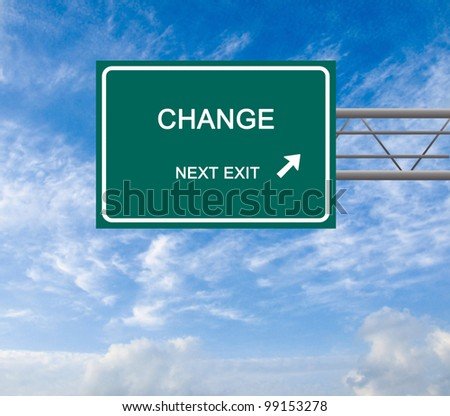Road sign to change - stock photo