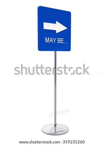 Road sign with direction - stock photo