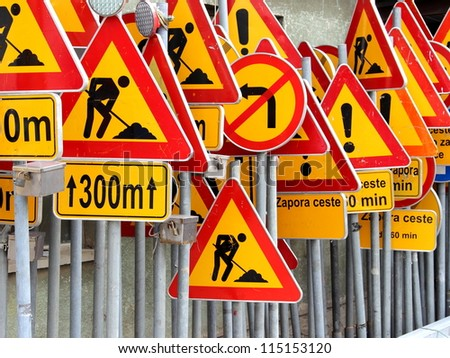 Road signs ! - stock photo