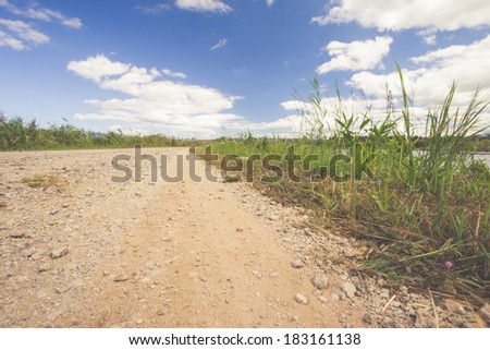 road sky Parks - stock photo