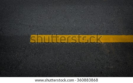 Road texture with one yellow