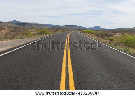 Road through the desert near Bagdad, Arizona
