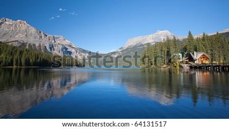 Road to Banff, Alberta, Canadian Rockies - stock photo