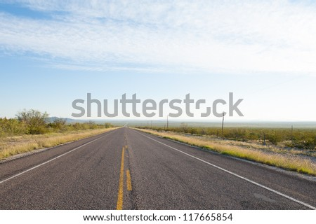 Road to Big Bend - stock photo