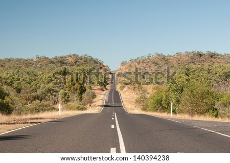 Road to Chillagoe (Bismark Range), Far North Queensland, Australia - stock photo