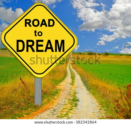 road to dream - stock photo