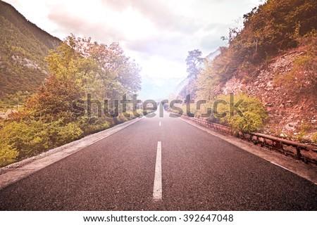 road to endless  - stock photo