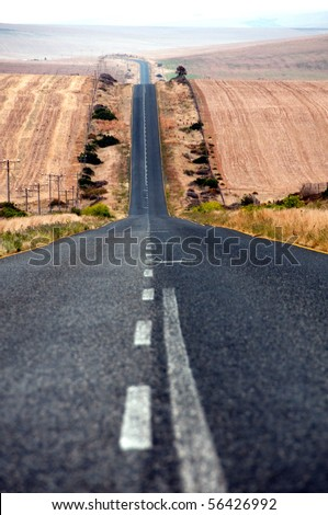 Road to eternity - stock photo