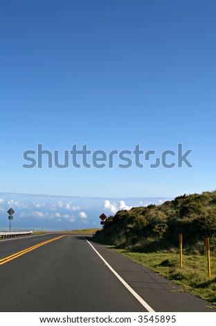 Road to Haleakala Crater - stock photo