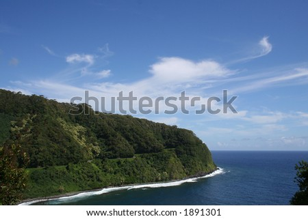 Road to Hana, Maui, Hawaii - stock photo