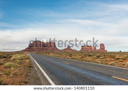 Road to Monument Valley - stock photo