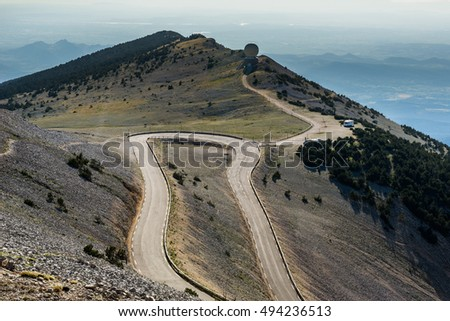 Road to Mount Ventoux, France