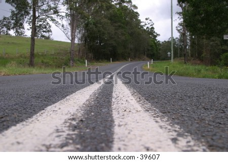 Road to nowjere - stock photo