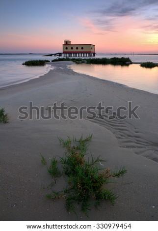 road to paradise , Beach fuseta, Olhão, Algarve, Portugal - stock photo
