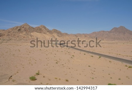 Road to Sinai desert