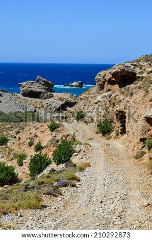 Road to the Ammoudi beach, Crete