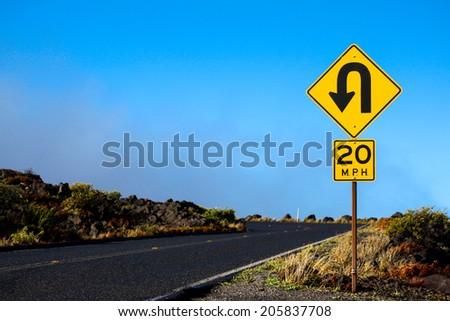 Road to the Observatory. Maui, Hawaii - stock photo