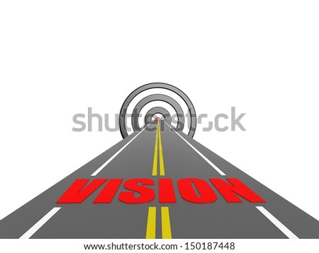 Road to vision - stock photo
