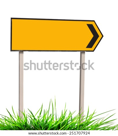 Road Traffic Sign on white background - stock photo