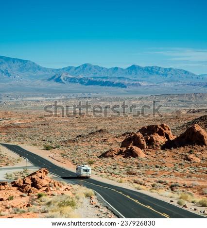 Road Trip Adventure - stock photo