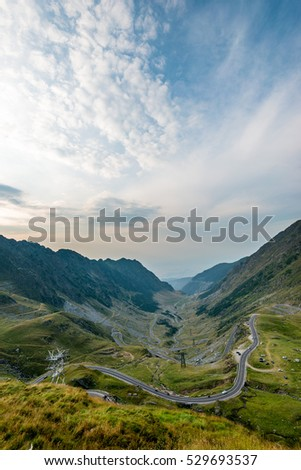 Road trip inside mountains, Central Romania